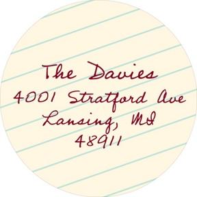 Taking Notes -- Graduation Address Labels