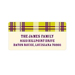 Purple Plaid -- Halloween Address Labels