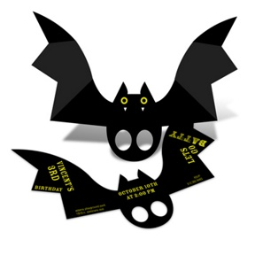 Batty Birthday -- Halloween Birthday Party Invitations