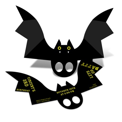 Batty Birthday Halloween Birthday Party Invitations