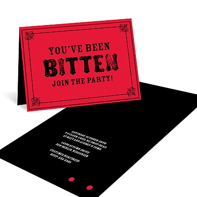 Frightful Bites Creative Halloween Invitations