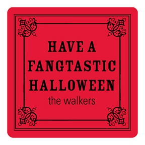 Simple Halloween Greeting -- Personalized Stickers