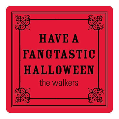 Simple Halloween Greeting Personalized Stickers
