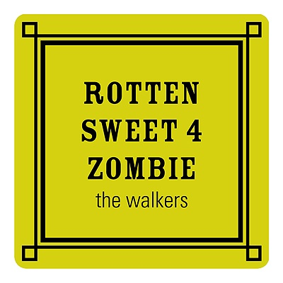 Simple Zombie Message Personalized Stickers