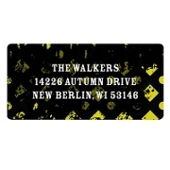 Halloween Vibrancy Vintage Address Labels