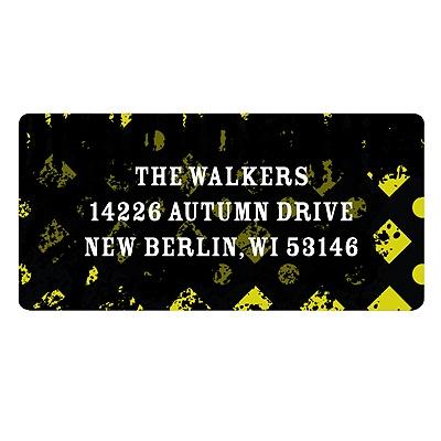 Halloween Vibrancy Vintage Address Labels