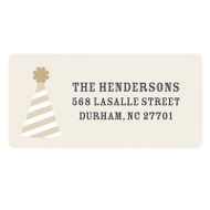 Perfect Party Hat Holiday Return Address Labels