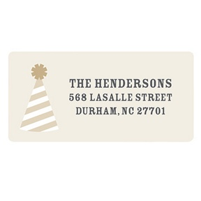 Perfect Party Hat -- Holiday Return Address Labels