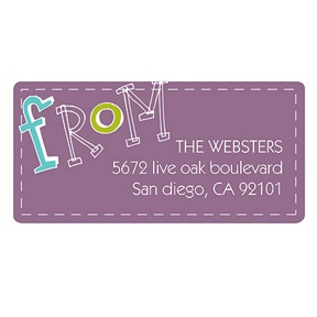 Hand-Drawn Greeting -- Family Address Labels