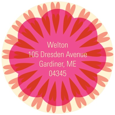 Swirling Medallion -- Colorful Address Labels