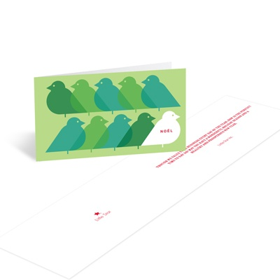 Folded in Flight Business Holiday Cards
