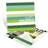 Holiday Stripes Business Holiday Cards