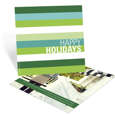 Holiday Stripes -- Business Photo Christmas Cards