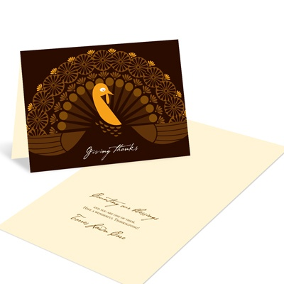 Folded Turkey -- Business Thanksgiving Cards
