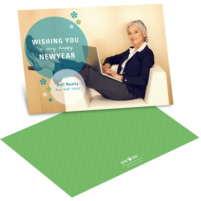Contemporary Bursts Business Holiday Cards