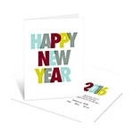 Dotted New Year Cheer -- Personalized Business Holiday Cards