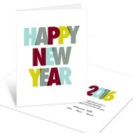 Dotted New Year Cheer Business Holiday Cards