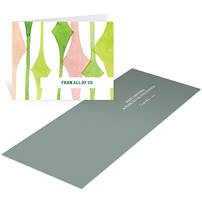 Diamond Watercolors Business Holiday Cards