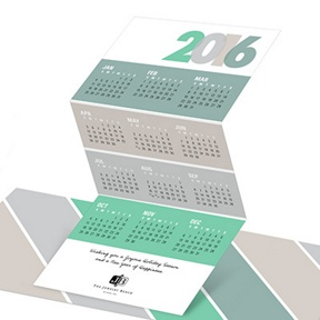 Trifold Calendar -- Business Holiday Cards