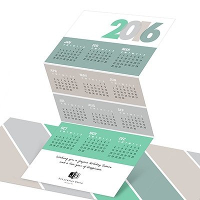 Trifold Calendar Business Holiday Cards