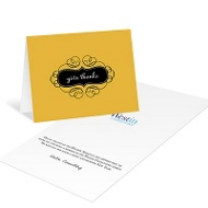 Classy Emblem Business Holiday Cards