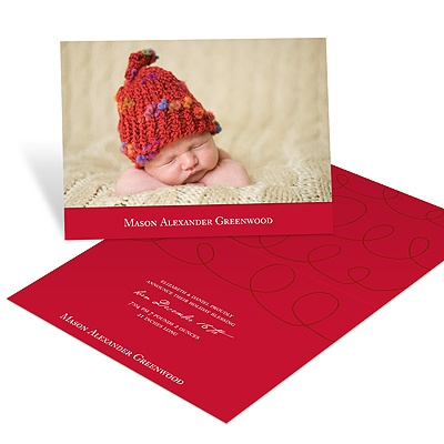 Modern Pattern Mix -- Holiday Birth Announcements