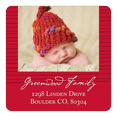 Modern Photo Pattern -- Christmas Return Address Labels