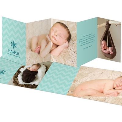 Sweet Winter Dreams Unfold Birth Announcements