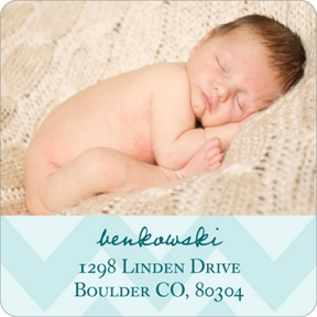 Creative Baby Pattern -- Christmas Address Labels