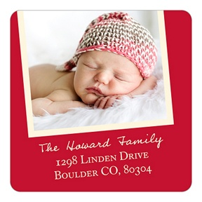 Christmas Brings Baby -- Christmas Address Labels
