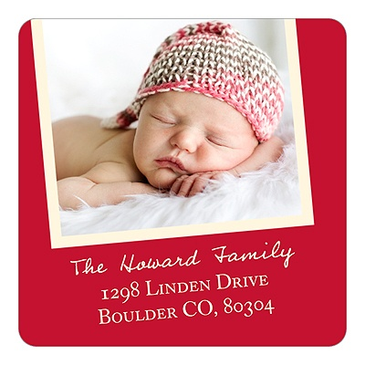 Christmas Brings Baby -- Photo Address Labels