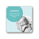 Winter Delivery for Baby Boys --  Photo Return Address Labels