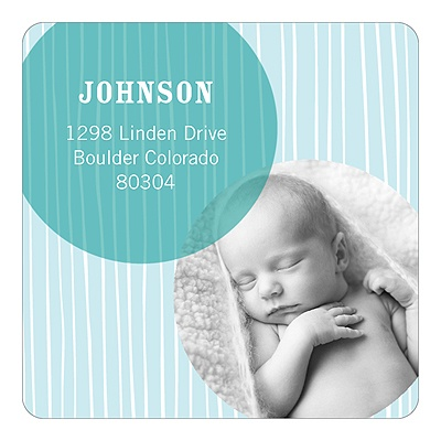 Winter Delivery for Baby Boys Christmas Address Labels