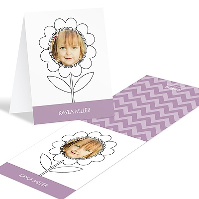 Flowering Face Coloring Greeting Cards