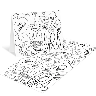 Playful Doodles Kids Coloring Cards