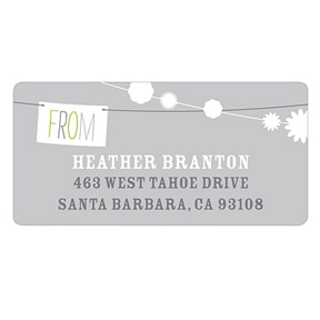 Strung with Bliss -- Save the Date Return Address Labels