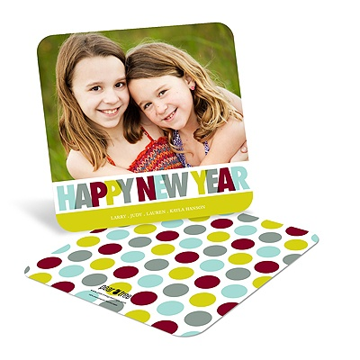Big and Bold -- New Years Photo Greeting Cards