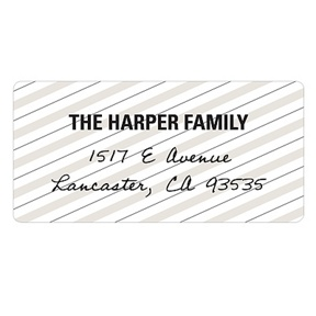 Striped and Scripted -- Vintage Address Labels