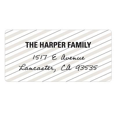 Striped and Scripted Vintage Address Labels