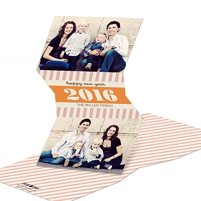 Sweetly Slanted Personalized New Years Cards