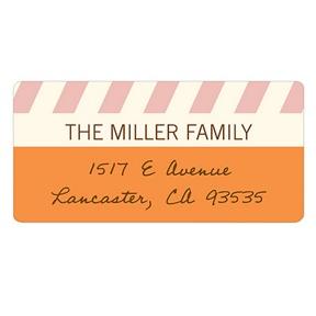 Sweetly Slanted -- Unique Return Address Labels