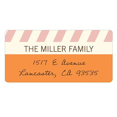 Sweetly Slanted Unique Return Address Labels