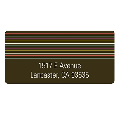 Strung Along Stripes -- Retro Address Labels