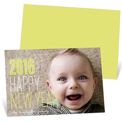 Sweetly Dotted New Years Holiday Cards