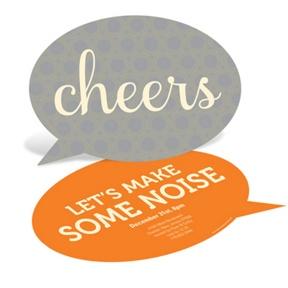 Speech Bubble -- Holiday Party Invitations