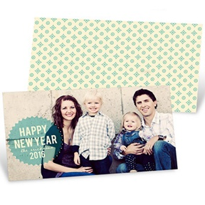 Seasonal Seal -- Happy New Years Photo Cards