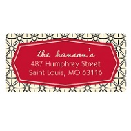 Happily Hexagon Holiday Address Labels