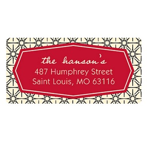 Happily Hexagon -- Holiday Address Labels