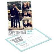Mesmerizing Match Photo Save the Date Postcards