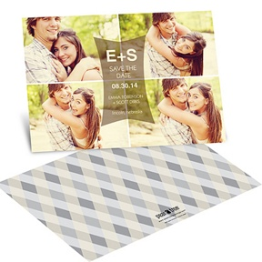 Modern Photo Collage -- Wedding Save the Date Cards